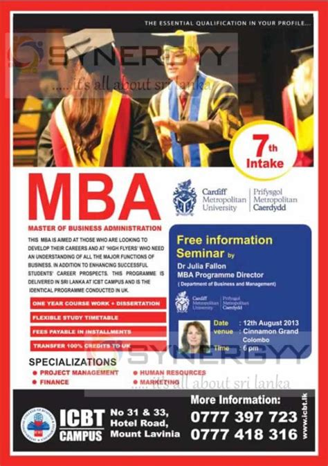Mba Taxation Uk by Mba Master Of Business Administration From Icbt 171 Synergyy