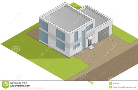 isometric house design isometric house illustration royalty free stock photos image 18962658