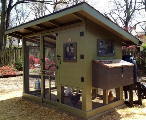Slant Roof Garage by Splashy Chicken Coop Kits In Garage And Shed Farmhouse