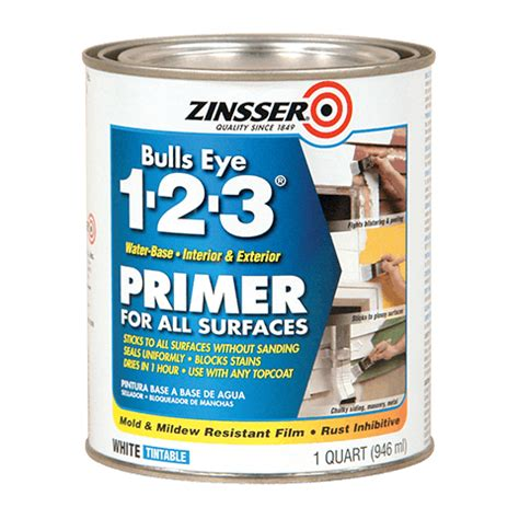 home depot paint with primer included zinsser 174 bulls eye 1 2 3 174 water base primer product page