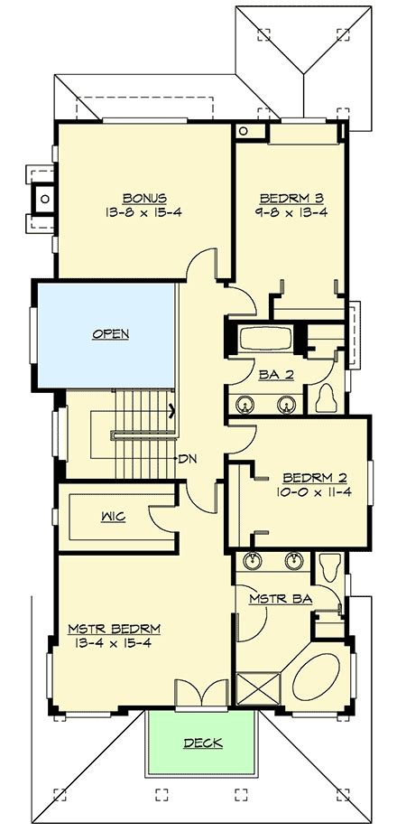 mission style in two versions 36346tx 2nd floor master suite butler walk in pantry cad craftsman with master up or down 2337jd architectural