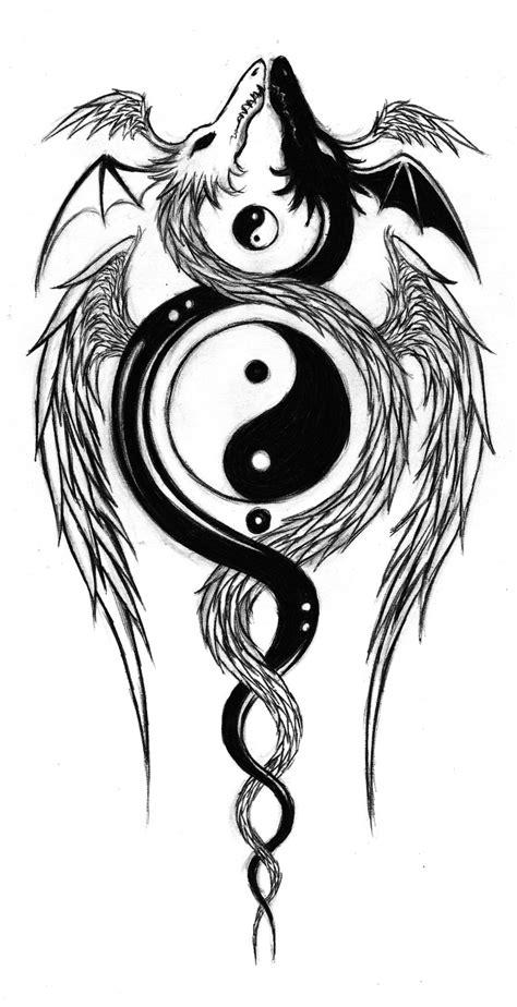yin yang dragon tattoo yin and yang dragons by aqvalung on deviantart
