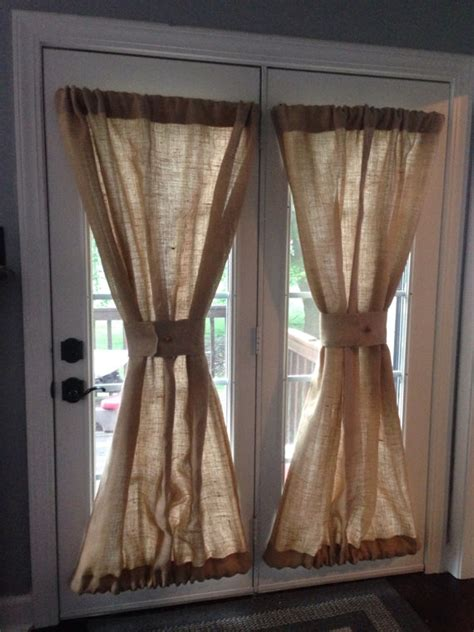 country curtains door panels burlap sheers french door drapes burlap curtains by misshettie