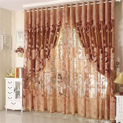 Luxury Blackout Curtains Aliexpress Buy Luxury Tulle For Windows Curtain Jacquard Embroidered Volie Sheer Blackout