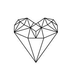 diamond tattoo we heart it diamond heart tattoo pinterest diamanten herz und
