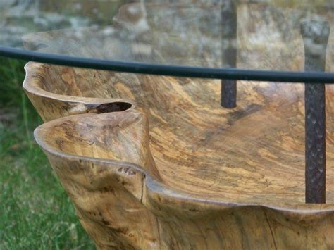 dugout spalted maple trunk coffee table spalted maple
