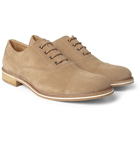 s suede oxford shoes tod s suede oxford shoes in brown for lyst
