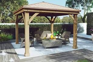Buy Gazebo Nz by Yardistry Wood Gazebo With Aluminium Roof