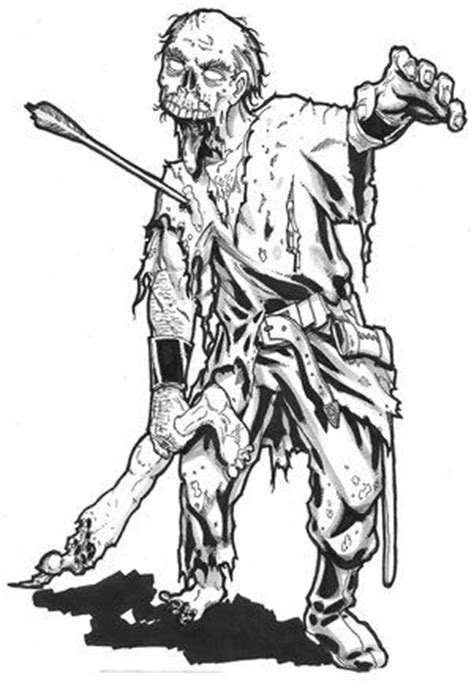 scary coloring pages of zombies 110 best images about adult horror coloring pages on pinterest
