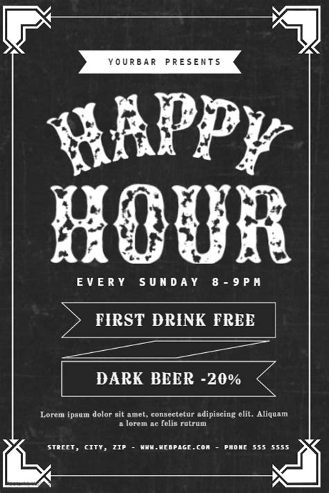 Happy Hour Flyer Template Postermywall Happy Hour Flyer Template Free