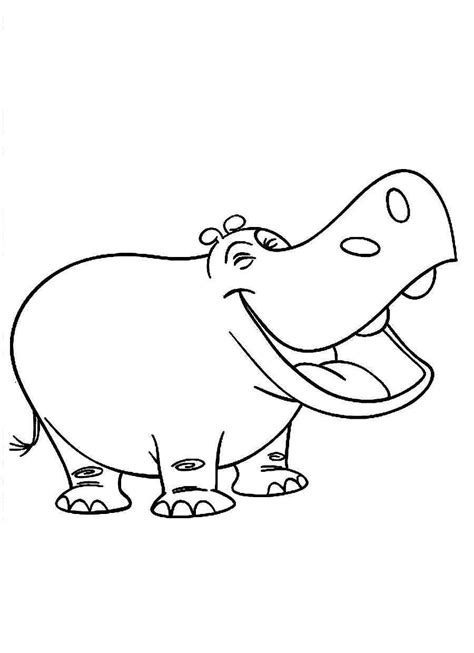 cute hippo coloring page cute free printable hippo coloring pages for kids
