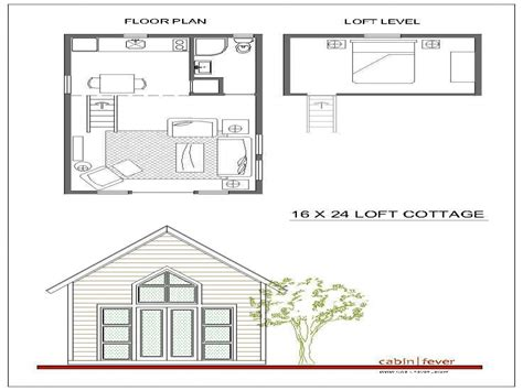 2 Story Cottage Plans by 2 Story Cabin Plans 16x24 16x24 Cabin Plans With Loft