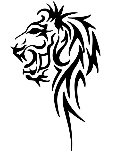 tribal lion tattoo designs tribal by pixelworlds on deviantart