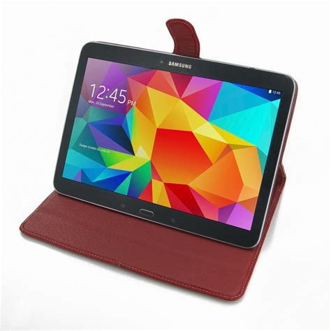 samsung galaxy tab 4 10 1 leather smart flip carry cover