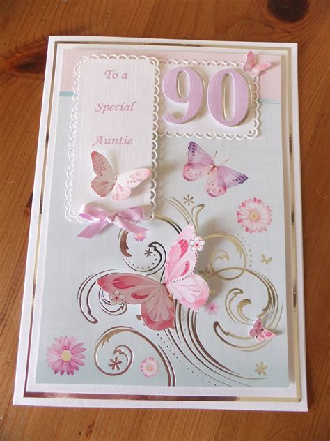 90th birthday, hunkydory card & butterflies   Butterfly