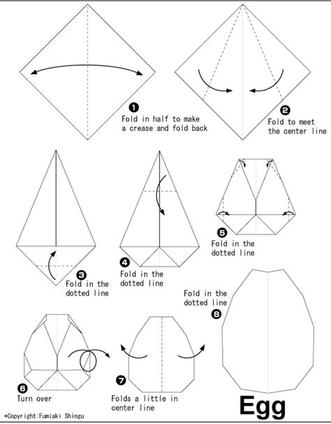 Origami Easter Egg - egg easy origami for