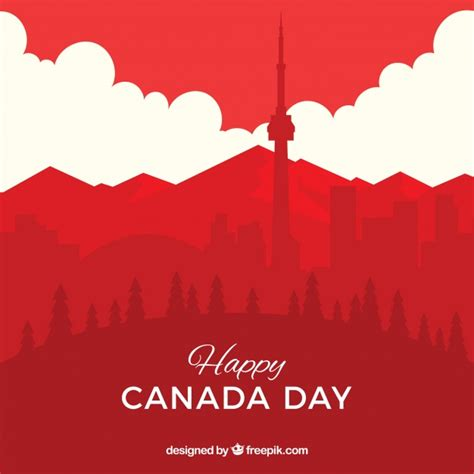 canada background canada day background with cityscape vector free