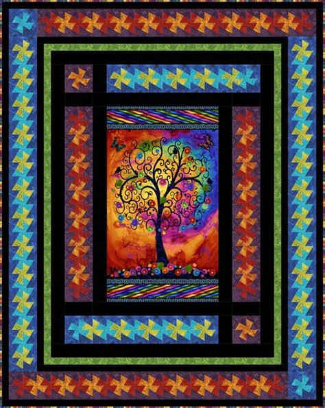 Timeless Treasures Quilt Shop by Timeless Treasures Fantasia By Chong A Hwang Panel Twist
