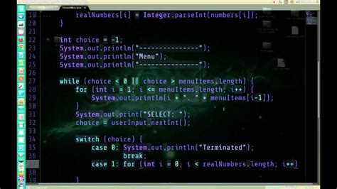 console java java console menu with command line arguments and user