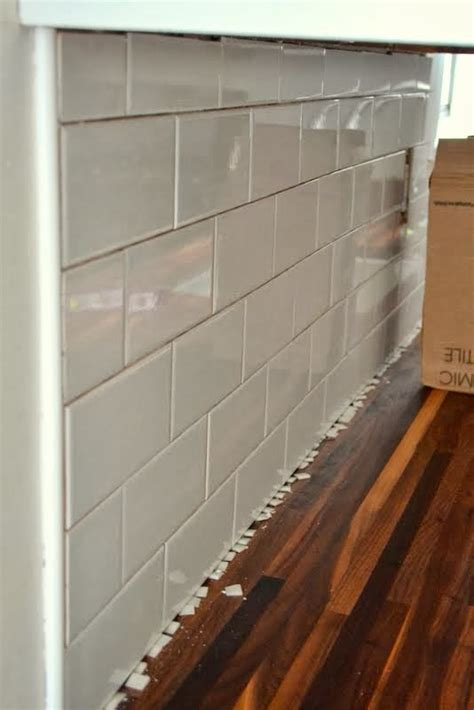 how to lay tile backsplash in kitchen how to add a tile backsplash in the kitchen the