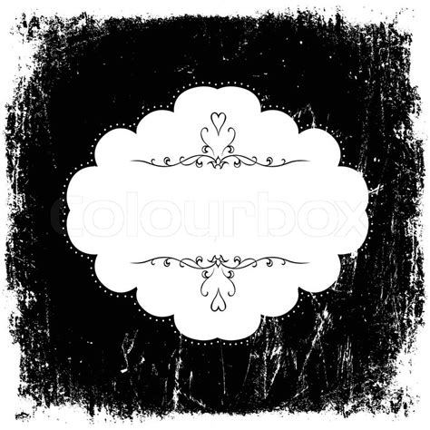 vintage grunge black and white card template vector