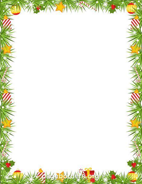 printable christmas borders for word printable christmas garland border use the border in