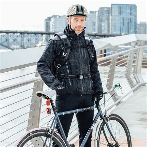 cycling shower jacket styling by day visible by night find your way with