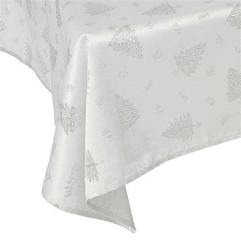 best 28 silver christmas tablecloth snowflake