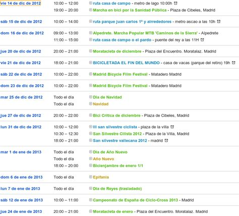 calendario del mes de diciembre 2012 y enero 2013 calendario ciclista diciembre enero