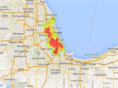 chicago crime heat map homicides in chicago number of children killed stays