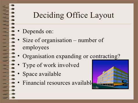 meaning of workplace layout office layout