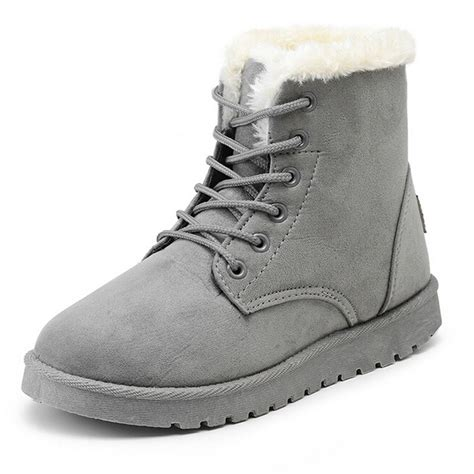 Winter Boots Shoes winter boots suede snow ankle boots warm