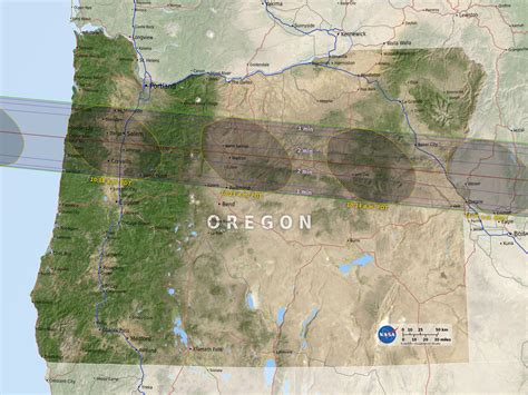 map of oregon during solar eclipse eclipse maps total solar eclipse 2017