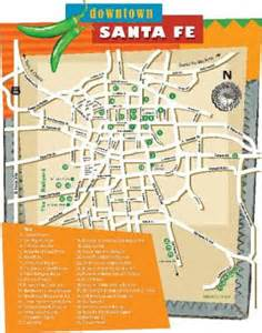 santa fe map downtown santa fe map the santa fe new mexican magazines