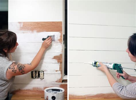how to make an inexpensive plank backsplash a beautiful mess how to make an inexpensive plank backsplash kitchen
