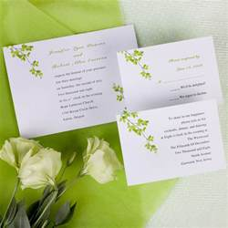 wedding invitation cards modern green wind bell printable wedding