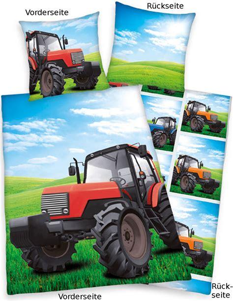 kinderbettwasche 135x200 bob der baumeister traktor bettw 228 sche 135x200 linon