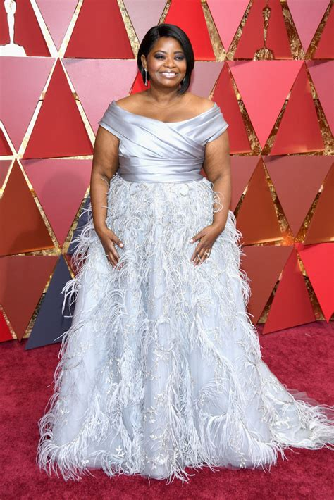 The Oscars Liveblog At Catwalk Shiny Shiny by Octavia Spencer In A Stunning The Shoulder Silver