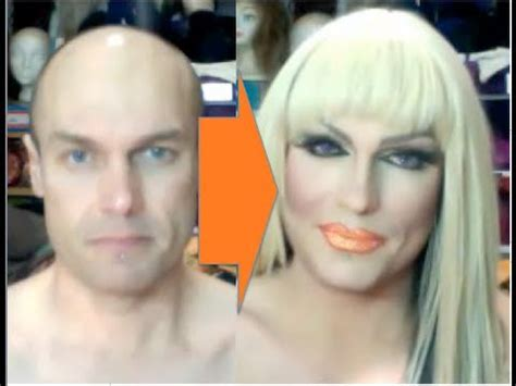 man to woman makeover drag queen makeup transformation rodd becomes patti