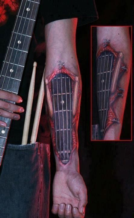 Tattoo Guitar Neck | guitar tattoo guitar neck strings frets forearm rock
