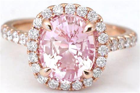 Light Pink Sapphire Diamond Ring in 18k rose gold (GR 5992)