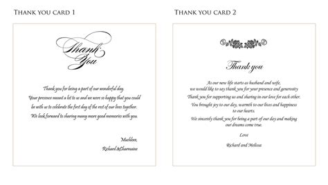 thank you notes for wedding gifts templates wedding thank you card ideas fortworthweddingmall