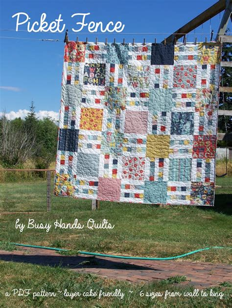 quilt pattern picket fence busy hands quilts picket fence a finish a pattern