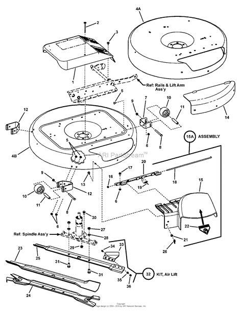 snapper parts diagram snapper 3317523bve 7800254 33 quot 17 5 hp rear engine rider
