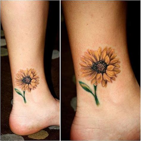 sunflower tattoo small small sunflower on foot www imgkid the