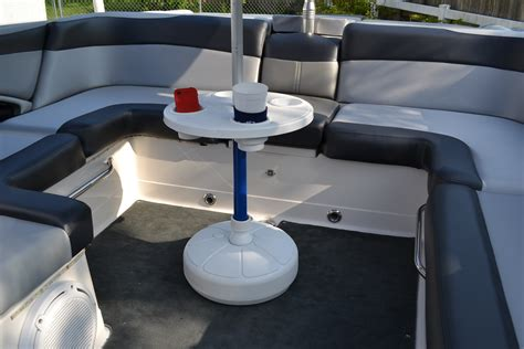 pontoon boat table boat table for pontoons ski boats cruisers and fishing boats aughog products ahp outdoors