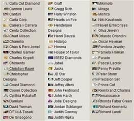 list of designers jewelry designers list