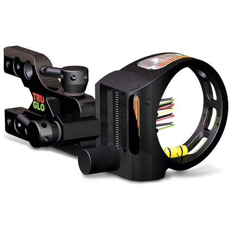 truglo bow sight light truglo 174 tru site xtreme pro series 5 pin sight with