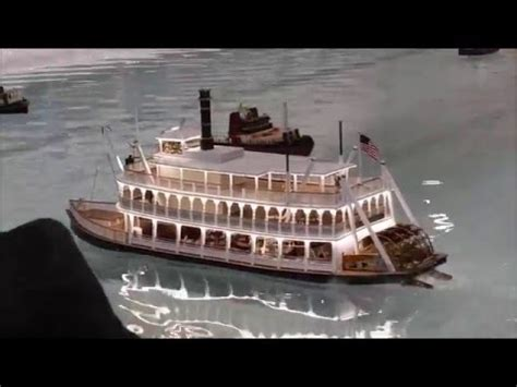 steam powered rc boat cabin fever expo 2016 steam powered rc paddle boat youtube