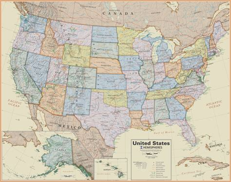 maps of us united states wall map laminated boardroom style 19 99